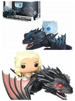 Wholesale figures for sale - Group buy Funko Pop Game of Thrones Daenerys Targaryen Night s King Drogon Action Figure Collectible Gift Anime Figure Toys Hot Sale