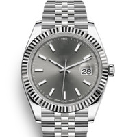 Wholesale sport watches for sale - Top Brand Luxury Watch Datejust Mm Automatic Mechanical Wristwatch DARK RHODIUM DIAL JUBILEE BRACELET Sports Mens Watches