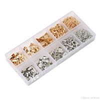 набор цветных лент оптовых-2 Цвет Омаров Застежка открытый прыжок кольцо ленты браслет комплект закладка щепотка обжимной зажим концы для DIY серьги ювелирных изделий G185l R