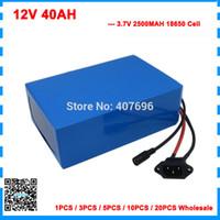 Wholesale 12v li ion charger resale online - Free customs fee W V AH li ion battery V MAH Lithium battery for V S ebike Battery V A charger