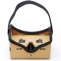 virtuelle realität google 3d kunststoff karton großhandel-DIY VR Google Karton 3D Brille Virtual Reality Brille Vr Box 3D Glas Privates Theater für 4-6 Zoll