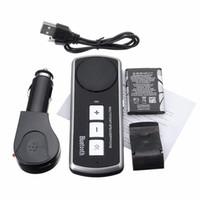 freie handzelle großhandel-Auto USB Multipoint-Lautsprecher Freisprecheinrichtung Bluetooth 3.0 für Handy Freisprecheinrichtung Freisprecheinrichtung für Handy