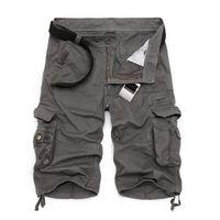 pantalon cargo hombre talla 28 al por mayor-Pantalones cortos de carga para hombre nuevo ejército camuflaje pantalones cortos tácticos hombres de algodón trabajo suelto pantalones cortos ocasionales más tamaño