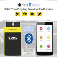 obd2 güncellemesi toptan satış-UCANDAS VDM2 Tam sistem V5.2 Bluetooth / Wifi Android için OBD2 VDM II 2 OBDII Kod Tarayıcı PK easydiag Güncelleme ücretsiz