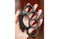 Wholesale finger knuckles resale online - Hot Sale aluminium alloy Finger Buckle Four Finger Ring Self Defense Tools BrokenWindow KNUCKLE DUSTER Selfdefensesupplie