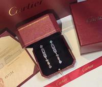 ingrosso gioielli orecchini da tennis-Designer orecchini catena nappa diamante orecchini gioielli di lusso designer donne orecchini 2019 accessori moda di lusso catena da tennis