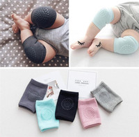 Wholesale baby crawling elbow pads resale online - Baby Kids Anti Slip Crawling Elbow Cushion Knee Pads Crawl Knee Protector Infant Leg Warm Safety Protector Child Elasticity Kneepad A42205
