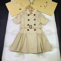 einteiliges kleid für baby großhandel-Ein stück einzelhandel Kinder mädchen England Stil kleider Baby mädchen mode prinzessin kleid kinderkleidung