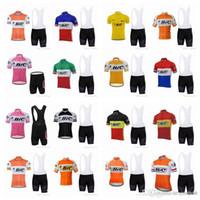 pantalones cortos de ciclismo orica al por mayor-BIC equipo de ciclismo de manga corta camiseta babero shorts fija la venta caliente transpirable cortocircuitos conjuntos camisa 880908