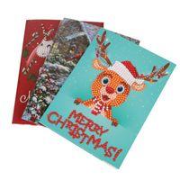 ingrosso carte di attraversamento animale-Halloween Natale Compleanno P Diamond Card Stitch Pittura Invito Invito Fai da te Animal Cross Holiday