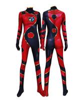 ingrosso costumi da supereroe del capretto di zentai-Adulto Donna Bambini Bragon Bug Cosplay Tuta Halloween Anime Moive Bragon Costume da Supereroe Zentai Tuta Tuta Tuta
