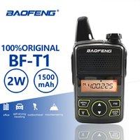 rádios de fiambre hf venda por atacado-Baofeng BF-T1 Crianças Mini Walkie Talkie 20 Canais UHF 400-470 MHz Portátil T1 Presunto Em Dois Sentidos de Rádio Amador Carregador USB Hf Transceptor