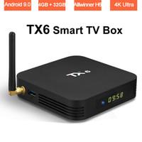 Wholesale android pc smart tv box online - Allwinner H6 Android Smart TV Box GB GB Quad Core Streaming Media Player K Wifi Set Top Box K Ultra HD H USB TX6 Mini PC