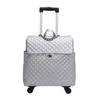 nouveau coffre à bagages achat en gros de-Super stockage Super stockage Trunk luggag 2019 nouveau sac en cuir vintage valise spinner cabine rétro voyage sac pour Unisexe