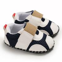 bebekler için düşmüş ayakkabılar toptan satış-3 renkler yeni gelenler Yumuşak alt kaymaz PU bebek İlk Walkers Bahar Güz Çocuk bebek İlk Walkers ayakkabı