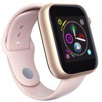 tarjeta de teléfono táctil al por mayor-Para Apple iPhone Z6 Sport Smart Watch Bluetooth 3.0 con cámara Pantalla táctil de 1.54 pulgadas PK Q3 Q9 Soporte Android Teléfono Sim TF