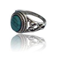 beliebte schmuckdesigner großhandel-Weiblicher Designerentwurf der antiken populären Fingerschmucksachen des natürlichen Ringes der natürlichen Edelsteingrünkiefer des Ringes