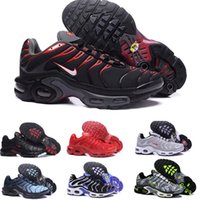 neue schnittschuhe design großhandel-2019 Neues Design Top Qualität TN Herrenschuhe Atmungsaktives Mesh Chaussures Homme Tn REqUin Noir Outdoor-Schuhgröße 7-12