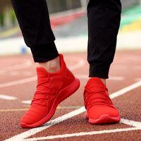 ingrosso illuminare gli uomini di scarpe da basket-Scarpe Uomo Sneakers Nuovi uomini Scarpe casual Comode stringate Scarpe da ginnastica leggere unisex Sneakers da basket Calzature Taglia 39-48