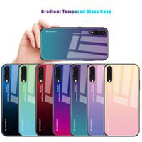 huawei honor cubrir el vidrio al por mayor-Para Huawei P20 Pro / P20 Lite / Mate 20 Pro 20 Lite / Honor 10 Lite Huawei P Smart 2019 / Honor Magic 2 Caja de cristal templado Cubierta colorida del teléfono