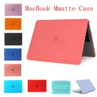 macbook laptop branco venda por atacado-Fosco fosco caso difícil de borracha para macbook 15.4 pro 13.3 branco 13.3 pro laptop completo capa protetora
