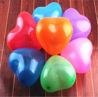 balões em forma de látex venda por atacado-Moda Balões De Ar Coloridos Eco Friendly Látex Airballoon Coração Forma Balão Decorações De Casamento venda quente 9yzb B