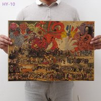 Wholesale hearts paintings resale online - New Naruto Poster vintage Classic Anime Cartoon Kraft Paper Poster Painting Wall Stickers Home