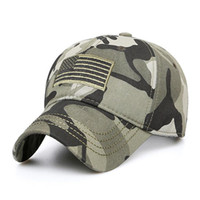 Wholesale trucker cap for sale - Group buy New Men Famous USA Flag Camouflage Baseball Cap Army Embroidery Cotton Tactical Snapback Dad Hat Male Summer Sports America Trucker Cap