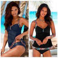 equipamentos de praia venda por atacado-Mulheres Swimsuit Sandy Beach Colete de Verão Estilo Quebrado Flores Swimwear Bikinis Conjunto Para Ao Ar Livre Equipamentos de Natação Esportes LJJZ399