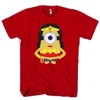 Wholesale minion printing resale online - Wonder Women Minion Man Woman T Shirt