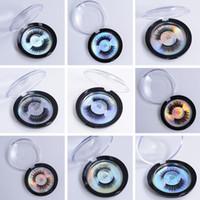 soie durable achat en gros de-Faux cils 3D de protéine de soie Faux cils de longue durée Cils doux de cils de vison naturels Outil de maquillage des yeux Boîte ronde TTA516