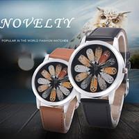 relógios pulseira de coruja venda por atacado-Moda de luxo Unisex Coruja Pena Quartz Rodada Dial Escola Relógio de Pulso Casal Acessório homens mulher relógio Pulseira