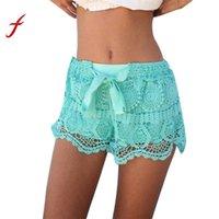 ingrosso bicchierini in pizzo di crochet donna-Nuovo modo di arrivo Shorts Womens Summer Waist Lace Crochet Mini Shorts Vendita calda Negozio casual Proprietario Consigliato Breve