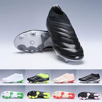 zapatillas de fútbol verde para hombre. al por mayor-Copa 19+ FG Mundial FG Zapatillas de fútbol Hombre Negro Blanco Verde Botas de fútbol Copa del mundo Botas de fútbol Botines Diseñador Hombre Zapatillas de deporte Tamaño 38-45