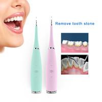 ingrosso pulitore elettrico dei denti-Professionale 5 modalità elettrico dentale scaler Sonic silicone pulitore ricaricabile Usb dente Calcolo rimozione macchie tartar J190628