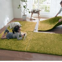 Wholesale plush bedroom carpets for sale - Bedside Plush Blanket For Bedroom Soft Comfort Living Room Stitching Carpets Home Ground Mat High Quality cl Ww