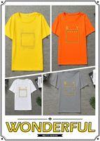 camiseta polo amarilla para hombre al por mayor-moda Camisetas de diseñador para hombre Negro amarillo rojo Camisas de diseño Hombres Mujeres Camiseta Manga corta M-XXXL polo para hombre transpirable TEES