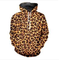 sudadera con estampado de leopardo xl al por mayor-Out Fashion Streetwear 3D HD Imprimir Casual Leopard Hoodies Sudaderas Hombres Mujeres Hoodie Jacket Coat LMS056
