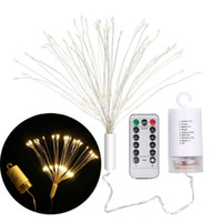 Wholesale hanging curtain lights for sale - Group buy Hanging Foldable LED Copper Wire String light DIY Fairy Firework Holiday Garland Christmas lamp Outdoor Decoration Twinkle light