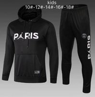 chaquetas de jersey de niños al por mayor-niños DI MARIA CAVANI París jerseys traje de entrenamiento de fútbol kit 18 19 20 chicos conjunto de fútbol chaqueta de chándal