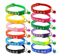 Wholesale small bells free shipping for sale - Group buy Easy Wear Cat Dog Collar With Bell Adjustable Buckle Dog Collar Cat Puppy Pet Supplies Cat Dog Accessories Small Free SHip