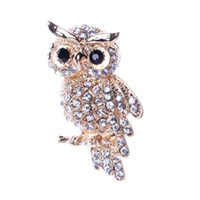 ingrosso clip di uccelli-Large Bird Owls Vintage Spille Bouquet di antiquariato Owle Pin Up Designer Wedded Broach Scarf Clips Jewellerys accessori spedizione gratuita 10 pz / lotto