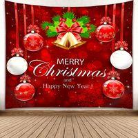 ingrosso alberi decorativi per pareti-150 * 130CM Hanging Natale Tapestry Xmas Tree Snowman Wall Carpet 3D Digital Print parete coperta asciugamano decorativo Arazzi GGA2754