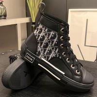 ingrosso scarpe di tela scarpe pu sole nero-B23 High-Top Sneaker Scarpe di tela nere trasparenti Scarpe da donna di design uomo Scarpe di alta qualità di lusso in pelle di vitello Sneakers Zx42