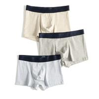 estilo japonês underwear venda por atacado-Roupa interior dos homens de Algodão Listrado Simples estilo japonês boxers lisos Macio e Confortável Cuecas masculino boxer homens 3345