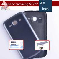 casos de nuevo as al por mayor-Para Samsung Galaxy Ace 3 S7270 7270 S7272 7272 Carcasa Tapa de la batería Puerta Puerta Trasera del chasis Caja de la caja trasera