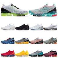 sapatos de esporte de tamanho mais venda por atacado-2019 air Vapormax plus tênis para homens triplos preto branco rosa Vinho mulheres esporte sneakers trainer Respirável moda vintage tamanho 36-44