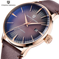 Wholesale pagani design fashion watch for sale - Group buy PAGANI DESIGN Luxury Brand New Fashion Mens Watches Waterproof Leather Strap Casual Automatic Mechanical Watch Relogio Masculino