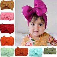 bebek kızları lüks saç aksesuarları toptan satış-30 renk çocuklar bebek lüks tasarımcı saç bantlarında niblet saç jojo baş bandı kızlar saç aksesuarları Parti malzemeleri Şapkalar saç bandı fiyonklar fiyonklar