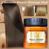 cabelo mágico venda por atacado-PURC Tratamento mágico máscara 120ml 5 segundos repara os danos restaurar o cabelo macio essencial para todos os tipos de cabelo do couro cabeludo queratina do cabelo